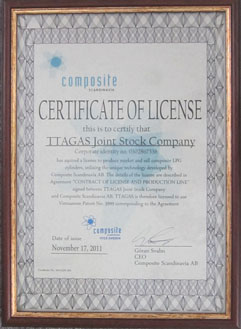 Certificate Of License